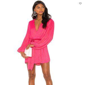 Retrofete Gabrielle Robe Dress Sequins Hot Pink XS